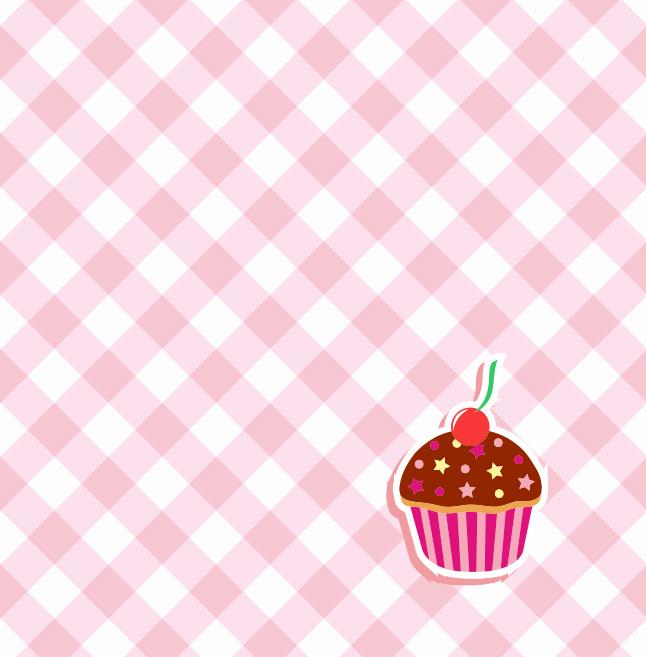 Cute Cupcake Wallpaper Gingham Cupcake Vector Background Vector Art Amp Graphics