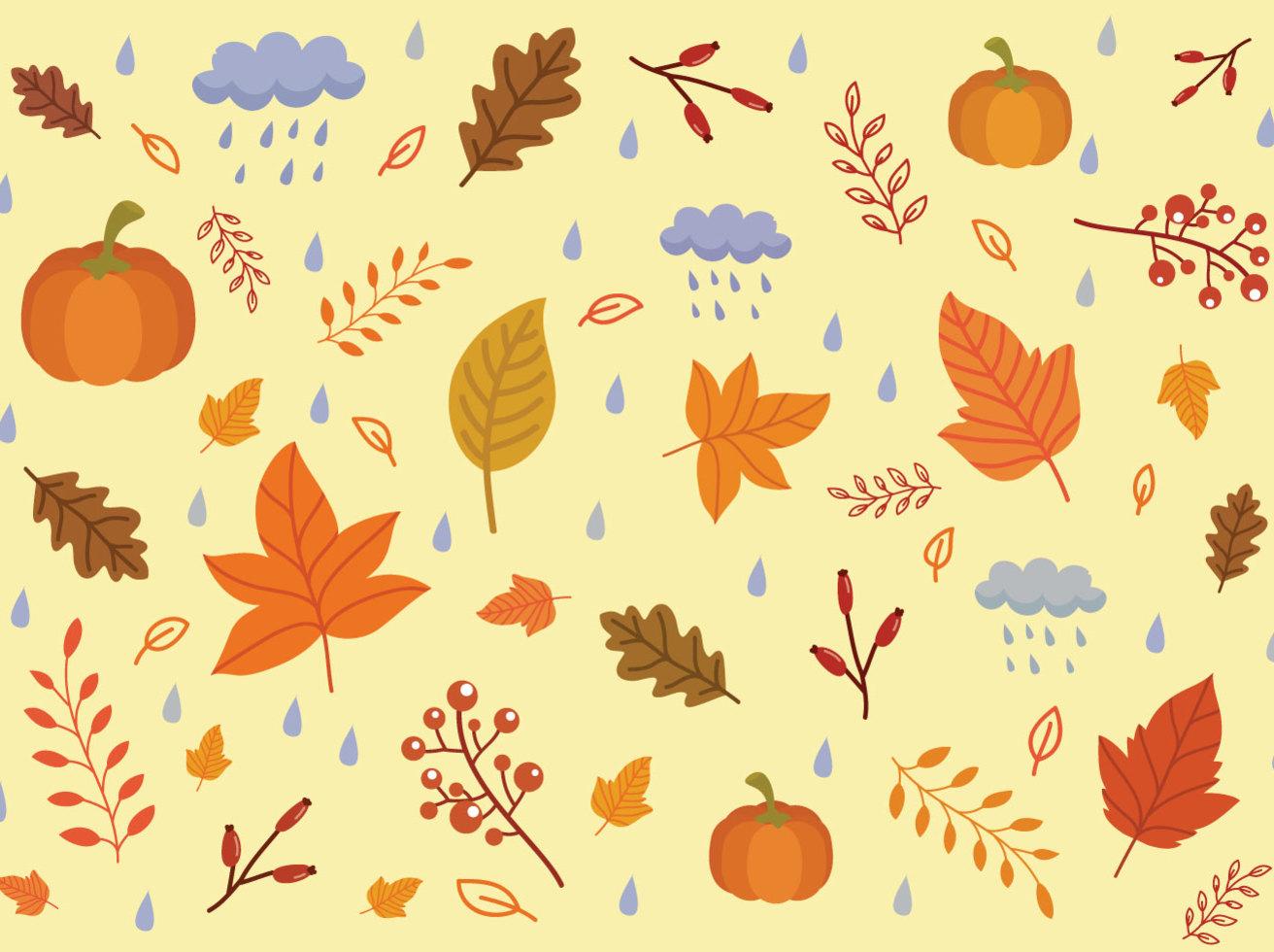 Fall Leaves Wallpaper Free Autumn Background Vectors Vector Art Amp Graphics