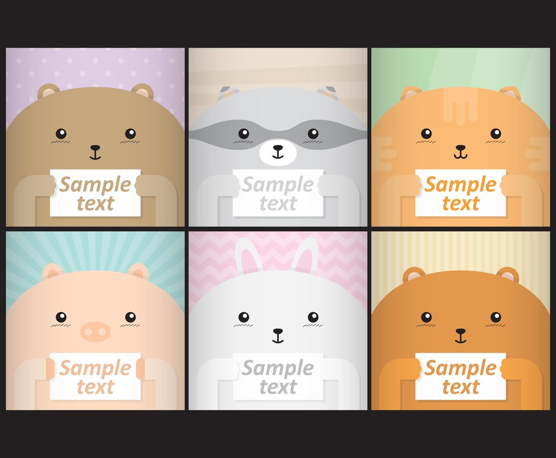 Cute Cartoon Face Wallpaper Cute Animal Templates Vector Art Amp Graphics Freevector Com