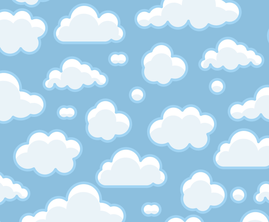 Cute Watercolor Wallpaper Blue Clouds Background Vector Art Amp Graphics Freevector Com