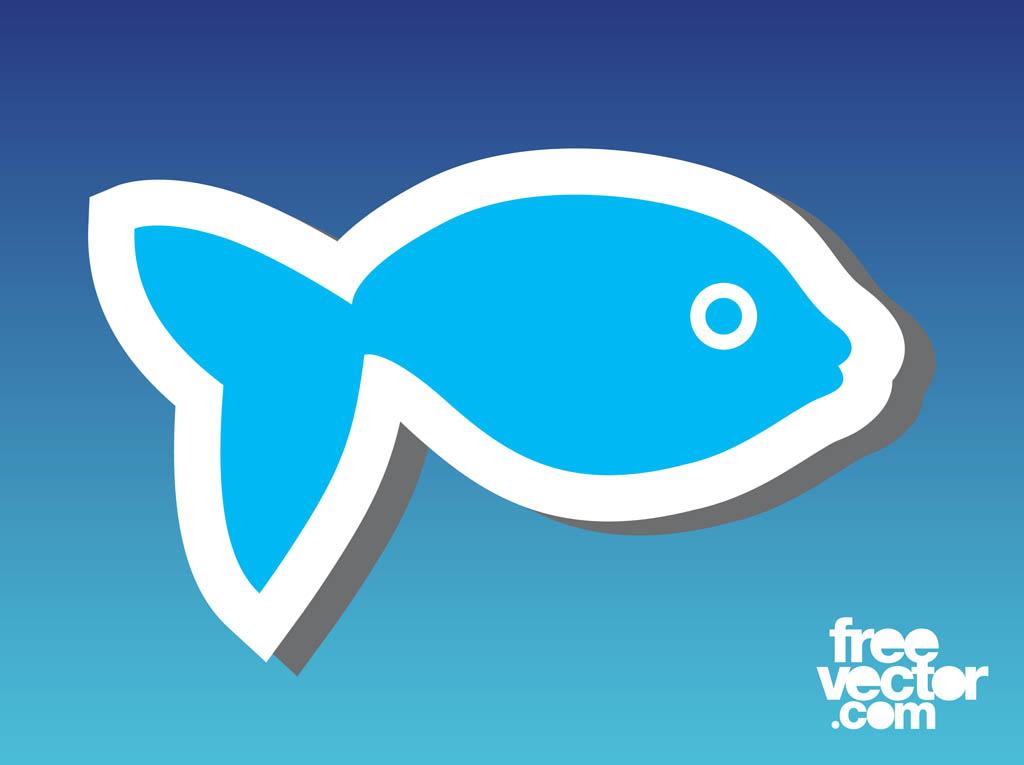 Fish Sticker Template Vector Art  Graphics freevector - free sticker template
