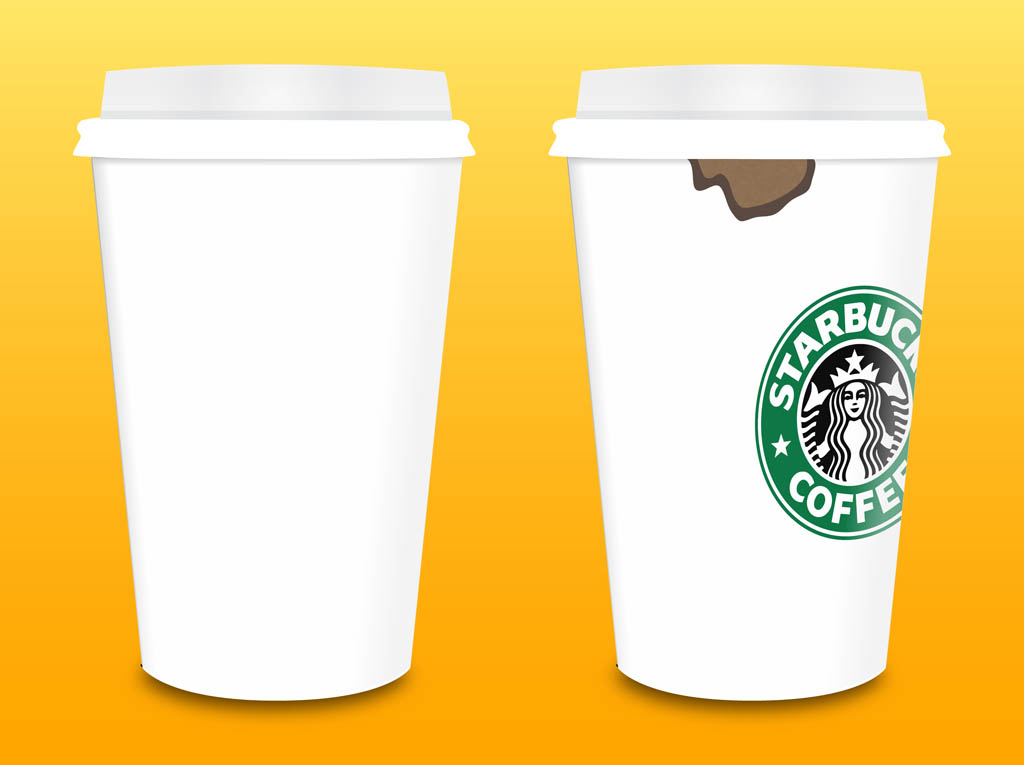 Starbucks Coffee Cups Vector Vector Art  Graphics freevector