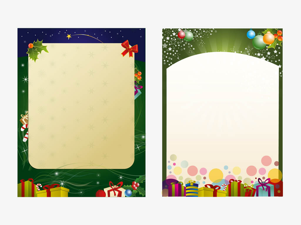 Christmas Poster Templates Vector Art  Graphics freevector