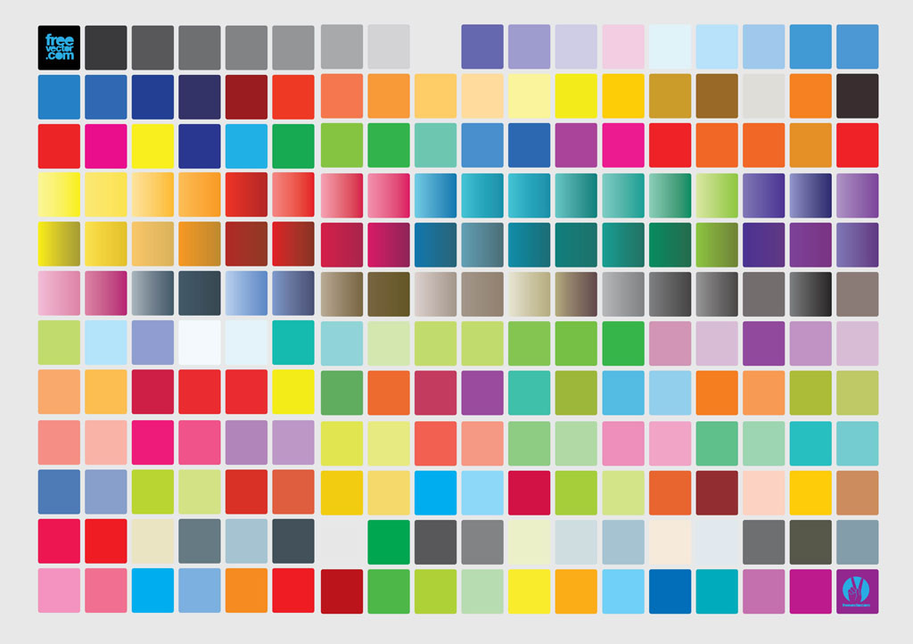 Color Chart Vector Art  Graphics freevector