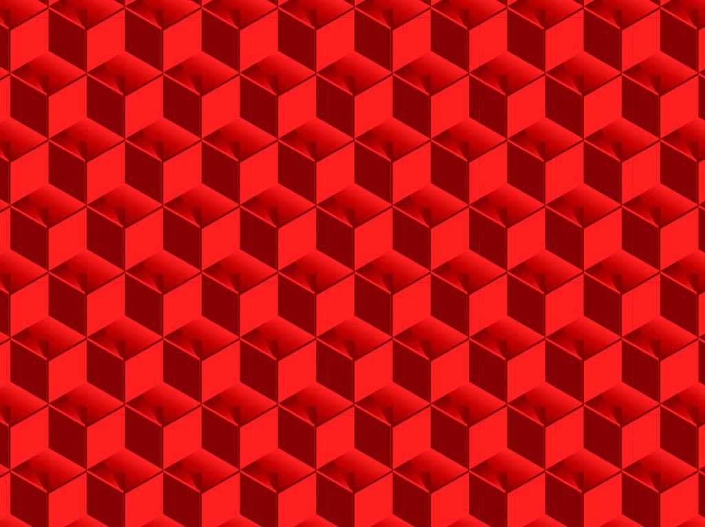 3 D Cubes Pattern Vector Art  Graphics freevector