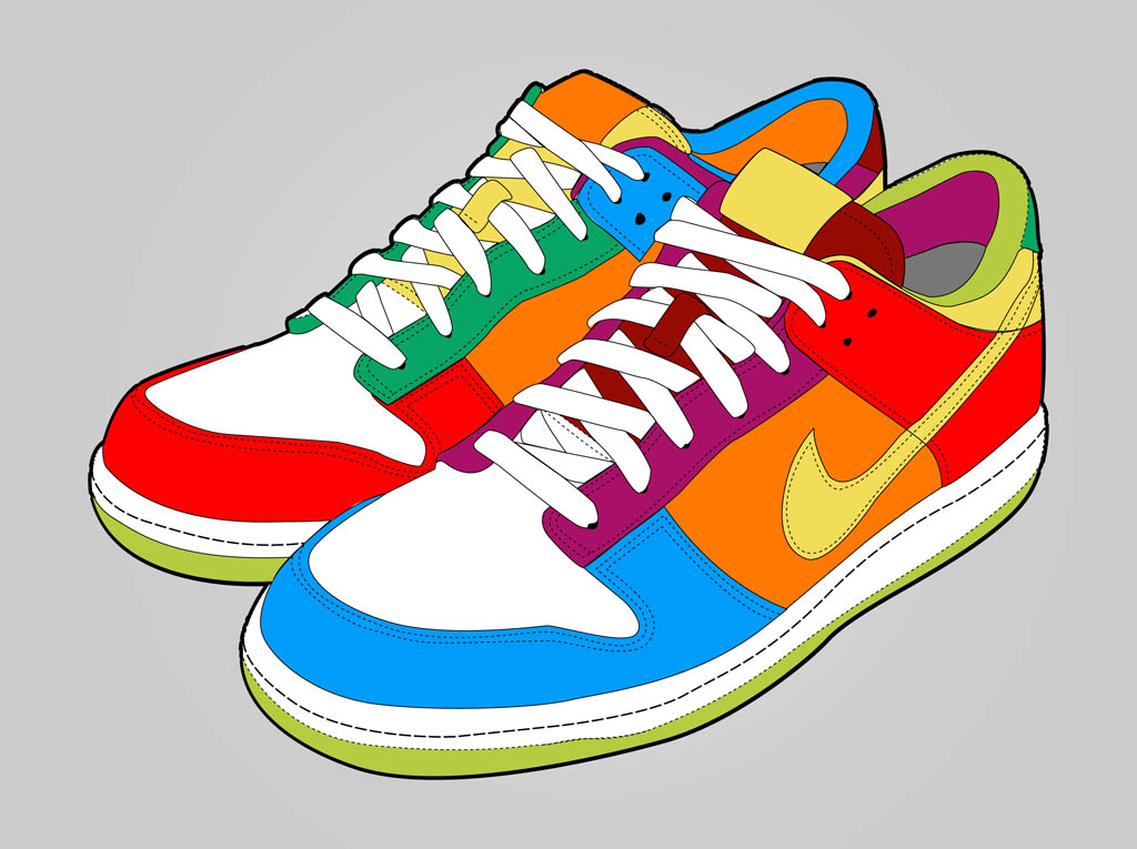 Colorful Shoes Vector Art Graphics Freevectorcom