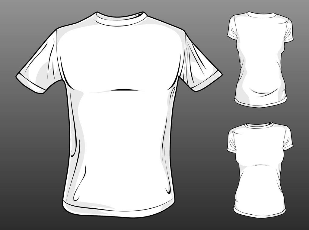 Vector T Shirt Templates Vector Art  Graphics freevector - t shirt template