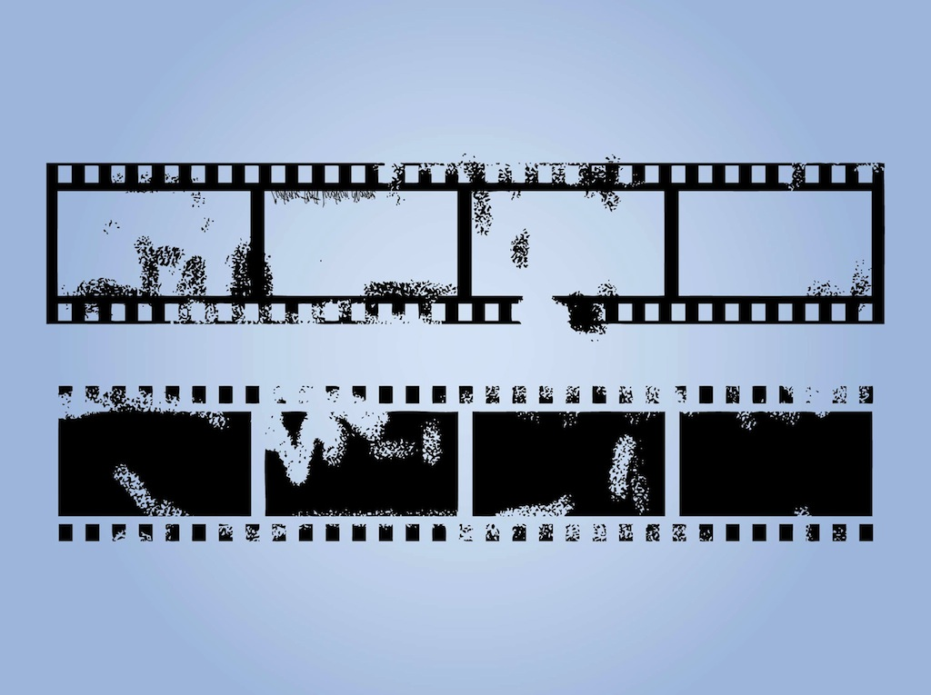 Grunge Film Strips Vector Art  Graphics freevector