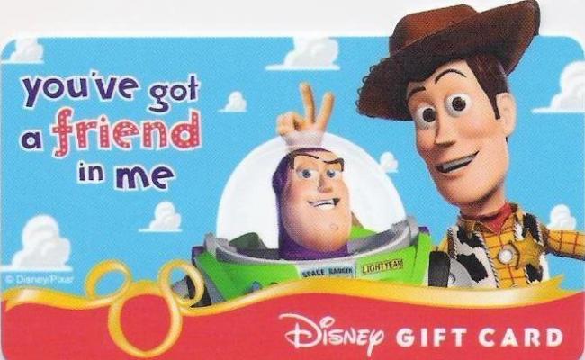 2008 Disney Gift Card
