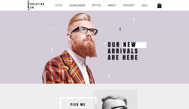 Eyewear Store Wix Template Wix Online Store Template