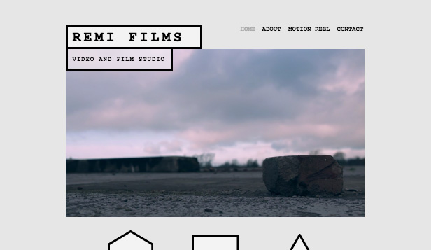 Video Production Wix Template Wix Creative Arts Template