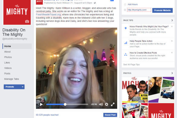 Karin Willison on Facebook Live.