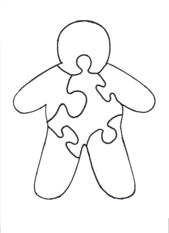 Christmas Puzzles  Gingerbread Man Wood Puzzle Pattern - gingerbread man template
