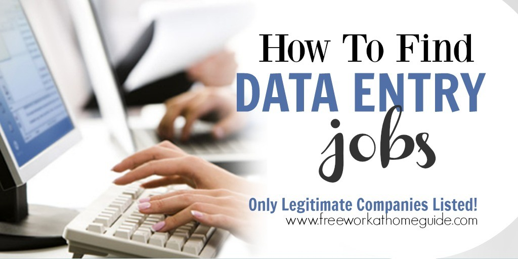 Data Entry Work at Home Jobs - data entry experience