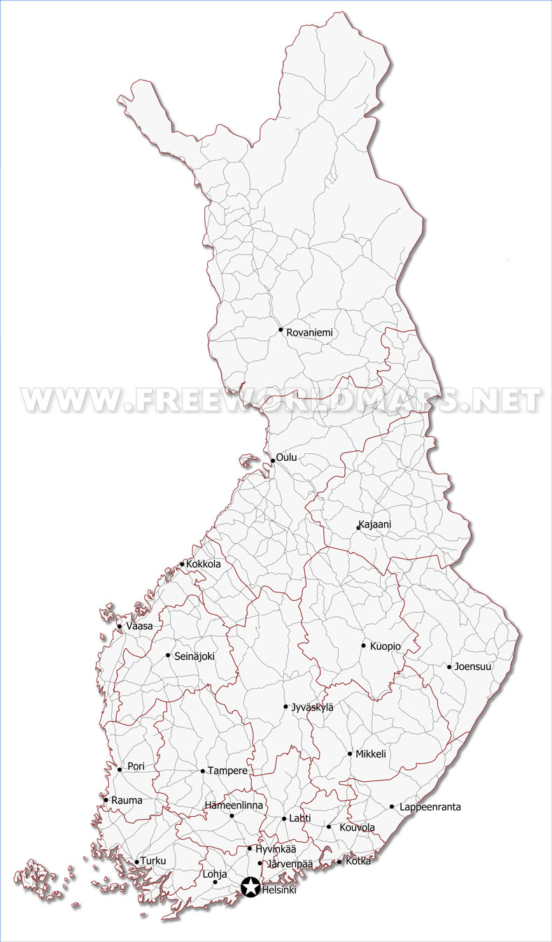 Outline Map Finland - Auto Electrical Wiring Diagram