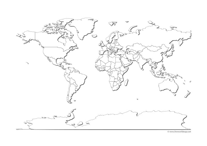 Free PDF World Maps