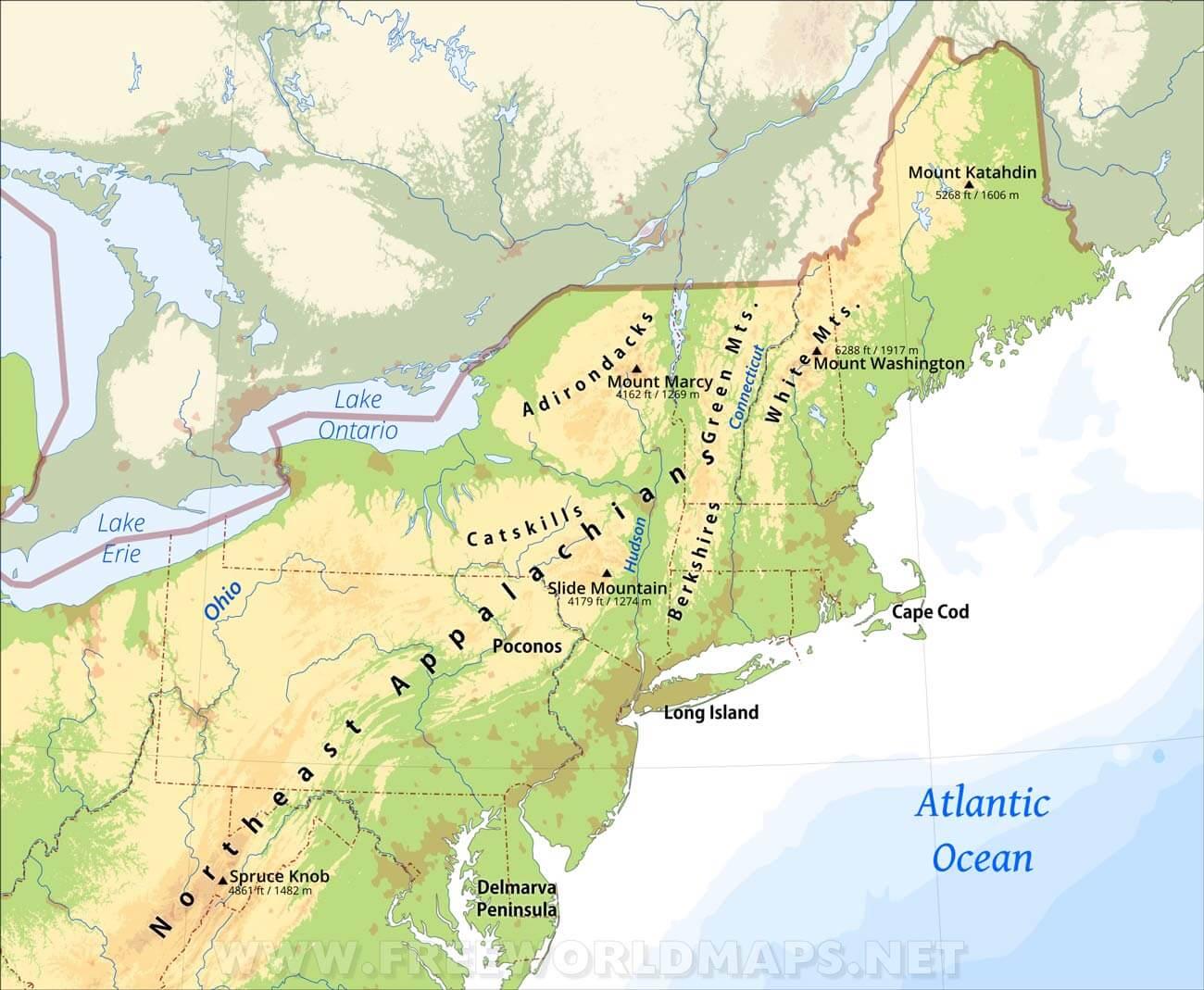 Boston To Toronto LTL Shipping Canada USA Cross Border Transport - Northeast of usa map