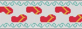 flip flop bookmark cross stitch pattern