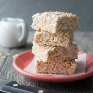 Cardamom Rice Krispie Treats Stack