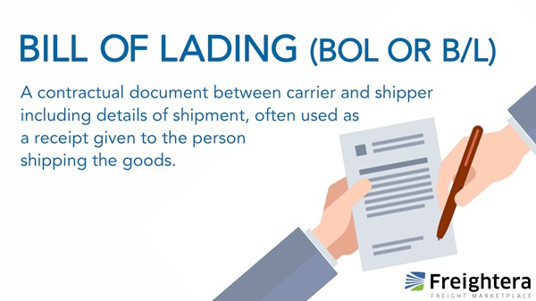 Bill Of Lading or BOL or B/L Definition - Go Freightera Blog - shipping bol