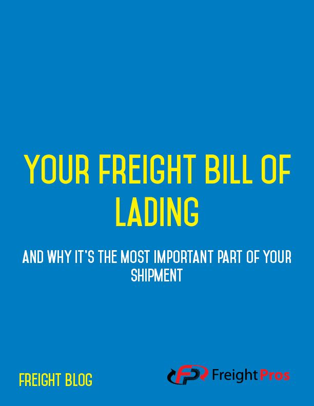 Why Your Bill of Lading is the Most Important Part of Freight Shipping - shipping bol