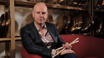 OCTOBER 21: Portrait of English musician Phil Selway, drummer with alternative rock group Radiohead, taken on October 21, 2010. (Photo by Will Ireland/Rhythm Magazine via Getty Images)