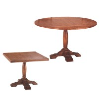 54438 English Square to Round Pedestal Table