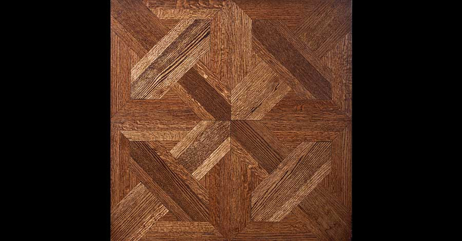 custom pattern wood floor Dallas, Texas, French-Brown Floors