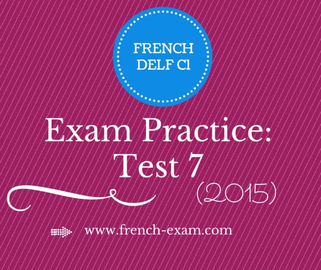 free Delf C1 exam