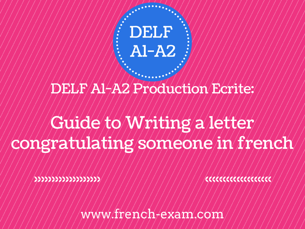 How to write a french letter (exam)?