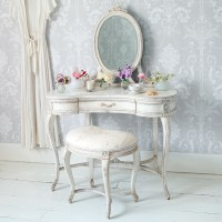 Delphine Shabby Chic Dressing Table, French Bedroom Company