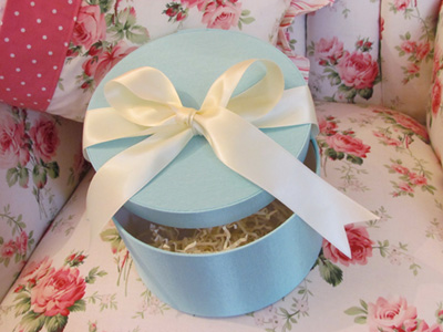 Tiffany Blue Hatbox Parisian Inspired French Gift Wrap