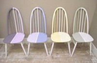 ID2995 Set of 4 Ercol painted chairs