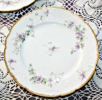 Antique French Haviland Limoges Purple Violet Floral ...