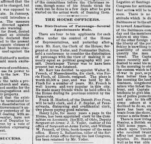 1891 Appointment