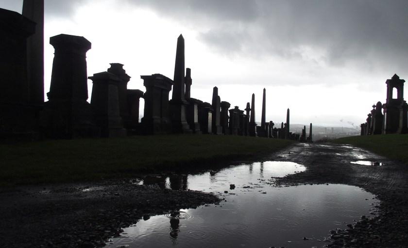 Série photo : Glasgow, entre les morts et les gouttes