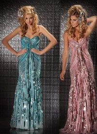 Mac Duggal Prom 70s Retro Look Sequin Prom Dress 3454M ...