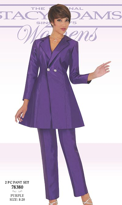Ben Marc 78380 Stacy Adams Womens Pant Suit French Novelty - women suits pant
