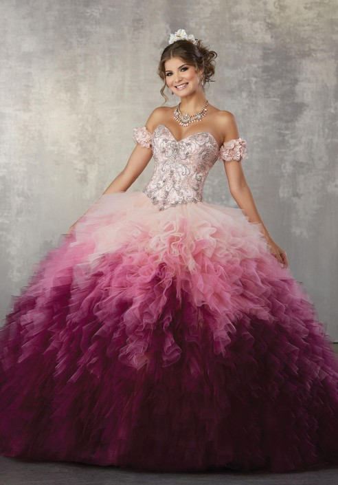 c7cbbc3ec0e vizcaya 89161 ruffled ombre. vizcaya 89161 ruffled ombre tulle quinceanera  dress french novelty.