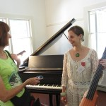 Cathy with Kate Moore, composer