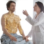 Marina Abramovic covers James Franco in gold leaf and honey as part of a conceptual art project.