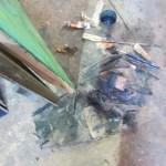 painting studio floor, Art School