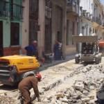 digging up Tejadillo Street, 22 May 2015