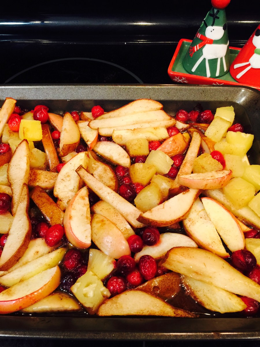 Healthy Holiday Fruit Bake