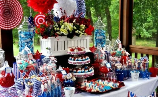 Patriotic 4th Of July Decorations Table Centerpieces Fftk