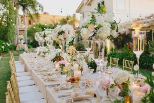 Top 5 Wedding Table Trends in 2016 FFTK - wedding reception setup with rectangular tables