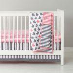 Pink and Gray Crib Bedding