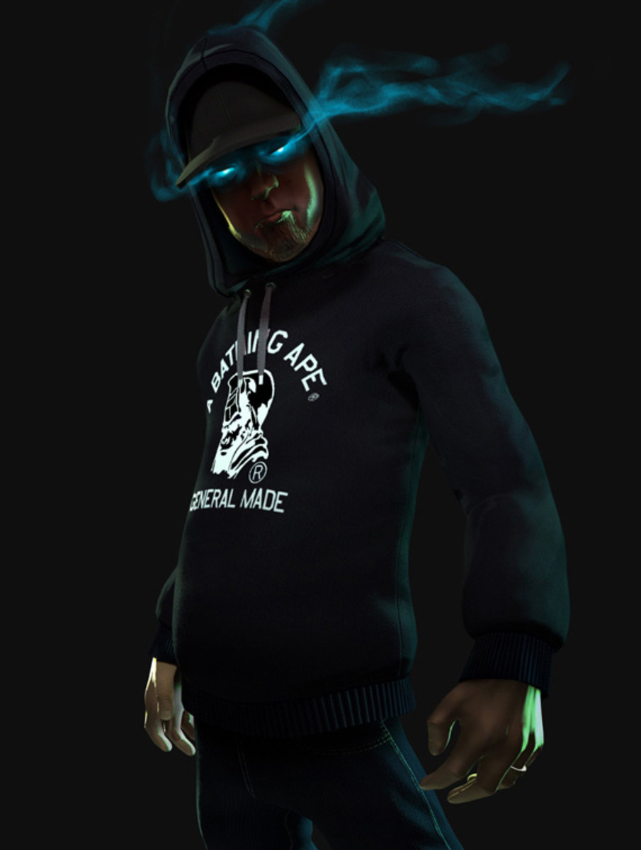 Animated Tech Wallpaper Activision Dj Hero Featuring Dj Shadow In Bape Hoodie