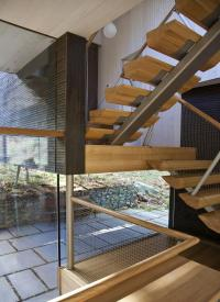 Modern Wood & Metal Stairs, Rural Retreat in Bantam ...
