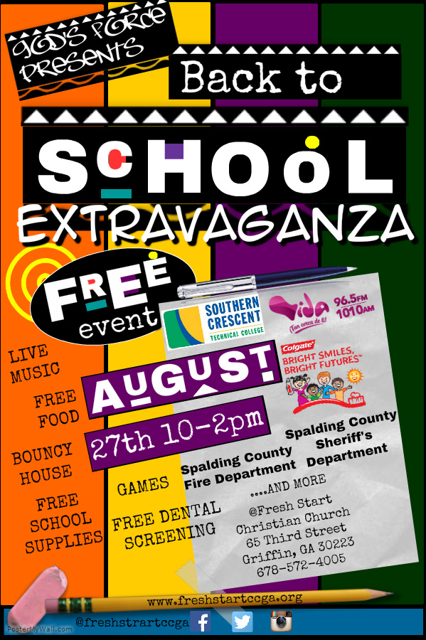 Back to School Extravaganza Fresh Start Christian Church - back to school flyers